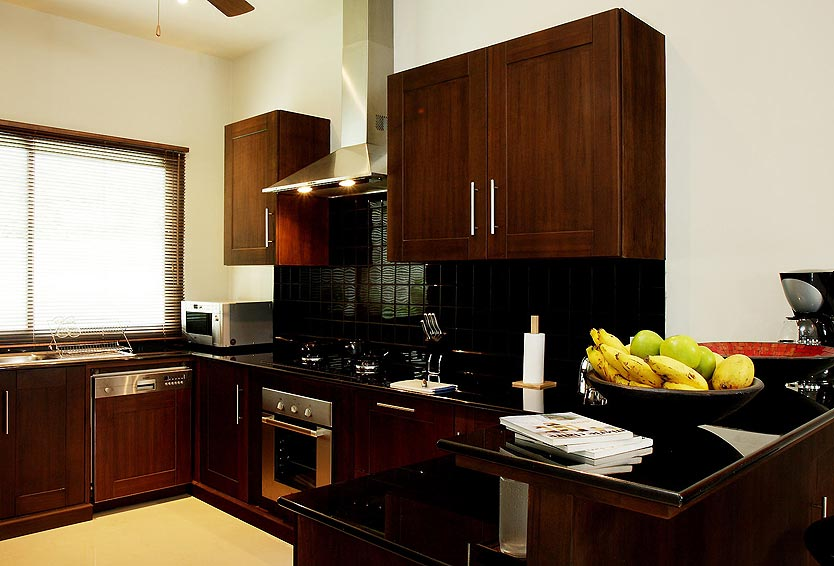 fully western kitchen moonstone villa nai harn phuket holiday rental