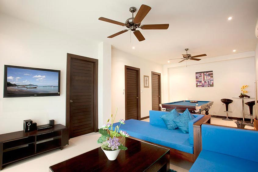 living room tv multi media moonstone villa nai harn phuket holiday rental