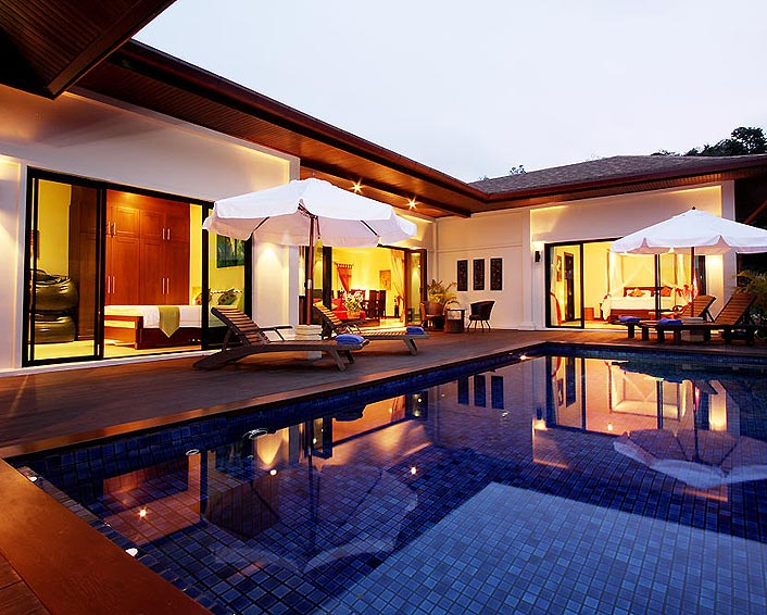 sundeck and pool moonstone villa nai harn phuket holiday rental