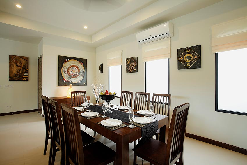 dining room onyx villa nai harn phuket holiday rental