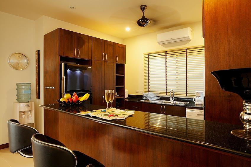 breakfast bar western kitchen onyx villa nai harn phuket holiday rental