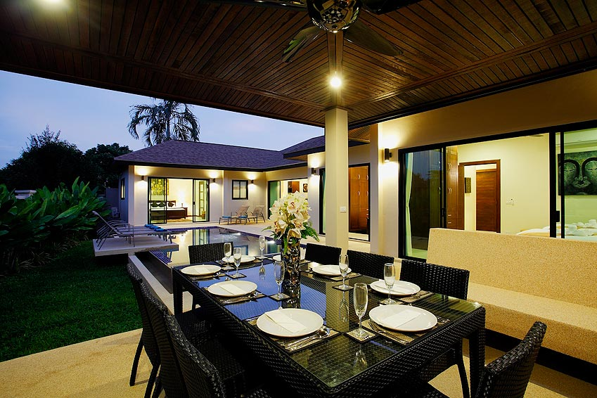 alfresco dining onyx villa nai harn phuket holiday rental