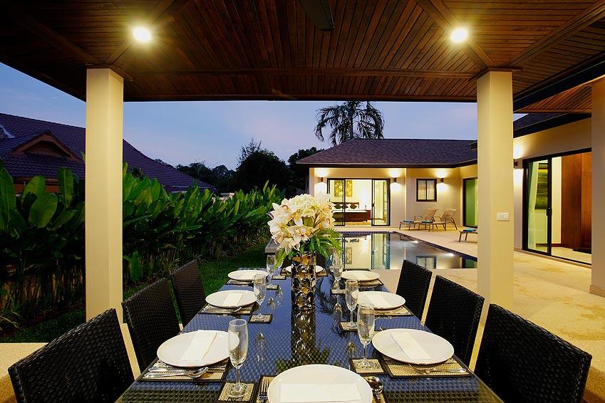 covered dining area onyx villa nai harn phuket holiday rental