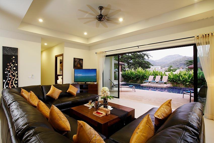 living room poolside onyx villa nai harn phuket holiday rental
