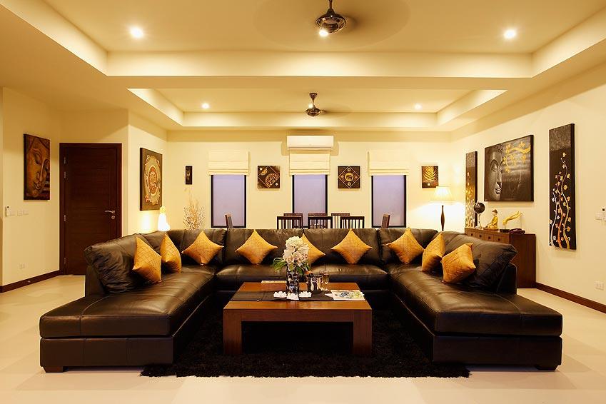large lounge tv home theatre onyx villa nai harn phuket holiday rental
