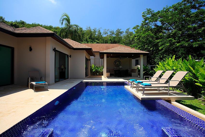 infinity pool sunbathing onyx villa nai harn phuket holiday rental