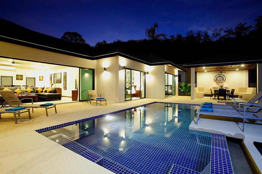 infinity pool onyx villa nai harn phuket holiday rental