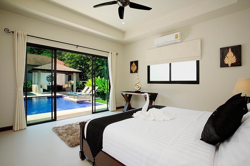 double en suite bedroom poolside onyx villa nai harn phuket holiday rental