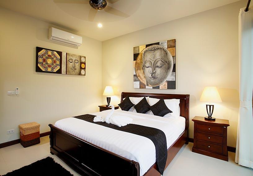 double bed onyx villa nai harn phuket holiday rental