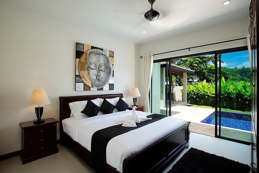 poolside double bed onyx villa nai harn phuket holiday rental
