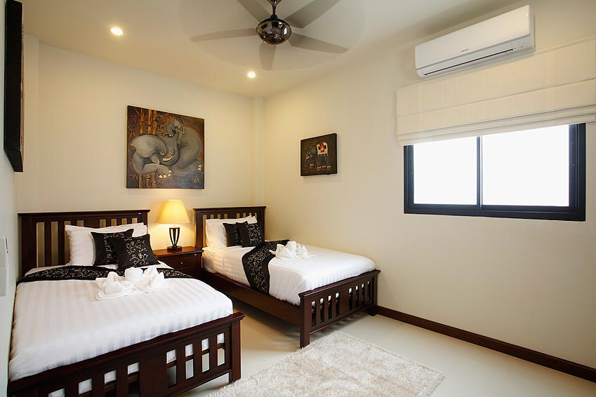 twin bedroom onyx villa nai harn phuket holiday rental