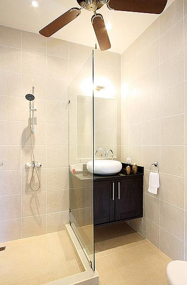 shower and basins ensuite opal villa nai harn phuket holiday rental