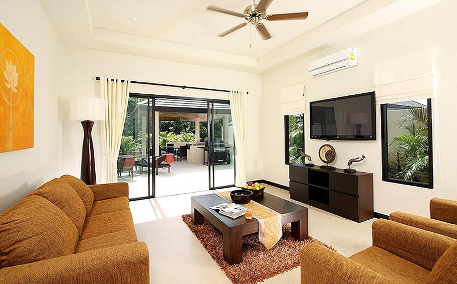 lounge area opal villa nai harn phuket holiday rental