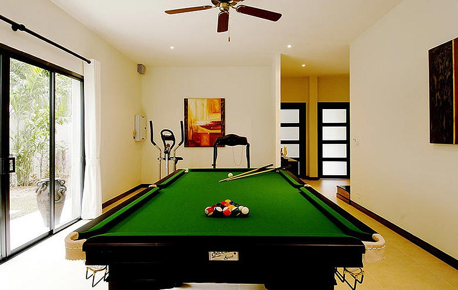 games room full size pool table opal villa nai harn phuket holiday rental
