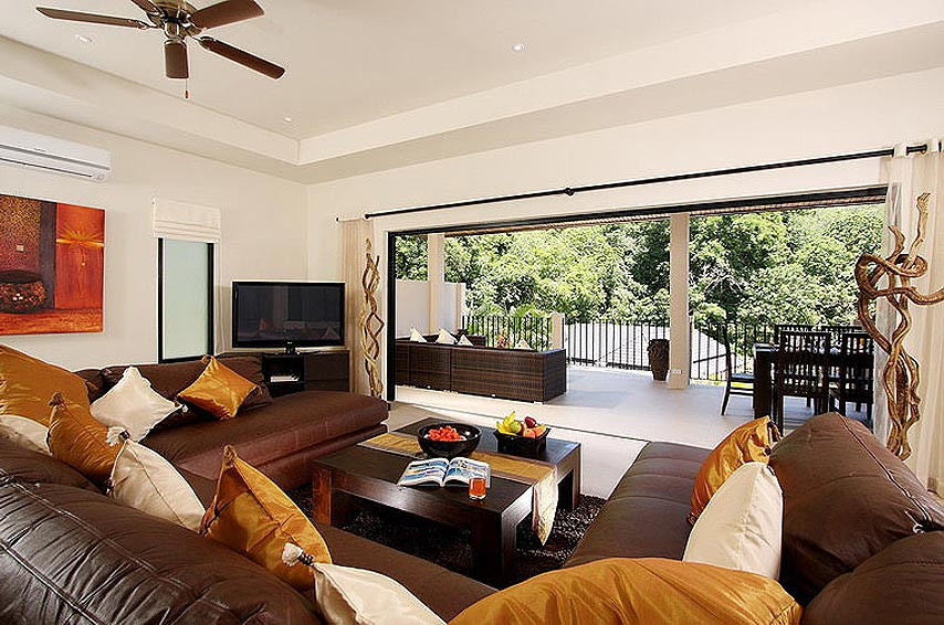 living room tv wifi opal villa nai harn phuket holiday rental