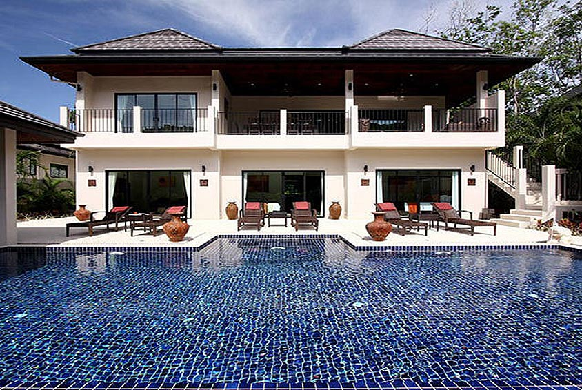 infinity pool two storey opal villa nai harn phuket holiday rental