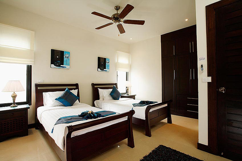 twin bed pearl villa nai harn phuket holiday rental
