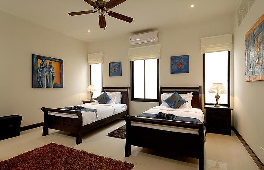 twin bedroom pearl villa nai harn phuket holiday rental