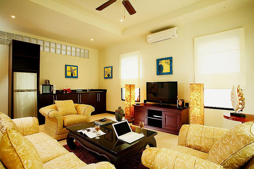 living room tv multi media wifi pearl villa nai harn phuket holiday rental