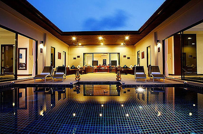 poolside entertainment night pearl villa nai harn phuket holiday rental