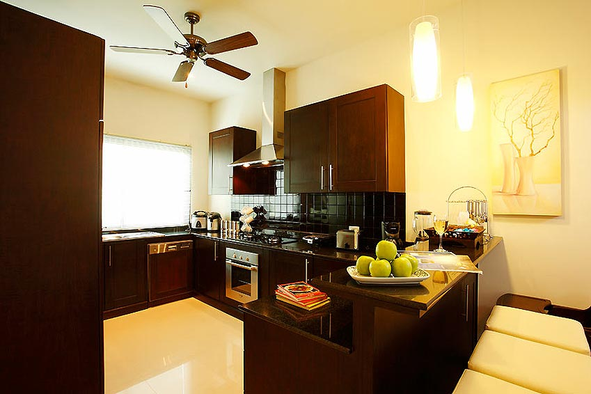 fully fitted western kitchen sapphire villa nai harn phuket holiday rental
