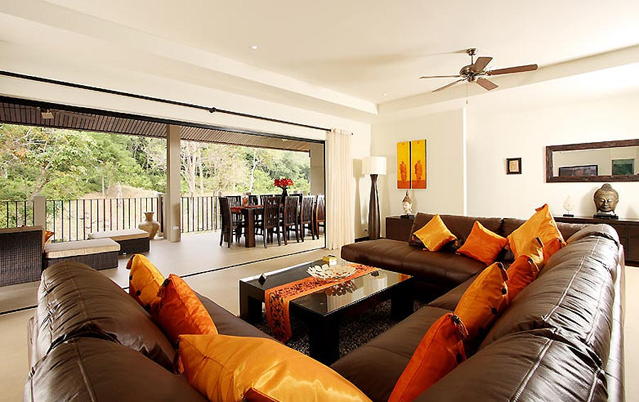 loungs with balcony sunstone villa nai harn phuket holiday rental
