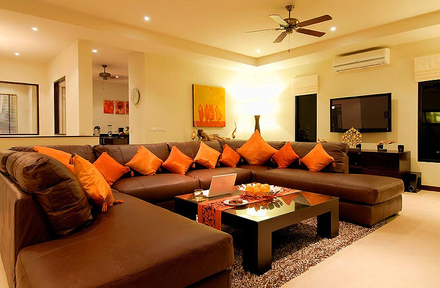 large seating are living room tv home theatre sunstone villa nai harn phuket holiday rental
