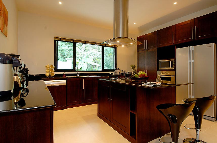 fully equipped western kitchen sunstone villa nai harn phuket holiday rental