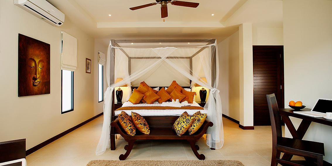 four post bed sunstone villa nai harn phuket holiday rental