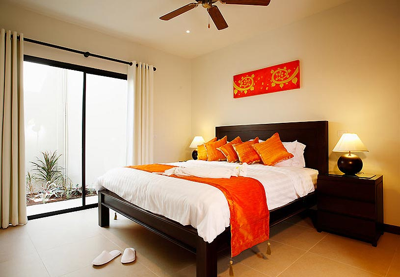 poolside double bedroom sunstone villa nai harn phuket holiday rental