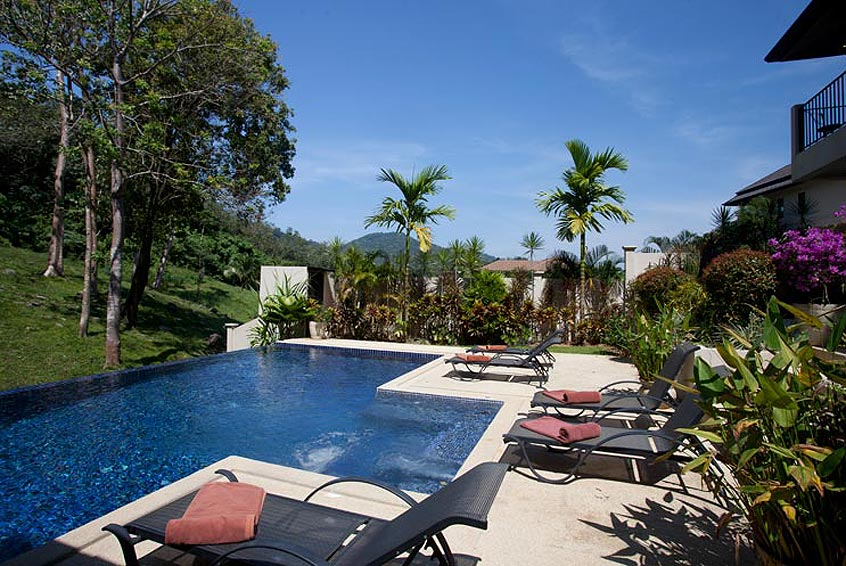 sundeck infinity pool sunstone villa nai harn phuket holiday rental
