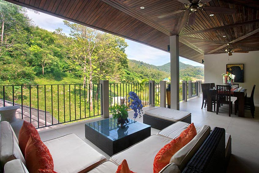 covered balcony sunstone villa nai harn phuket holiday rental