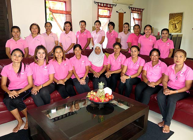 the villas nai harn phuket pink ladies - dedicated staff to ensure your enjoyment