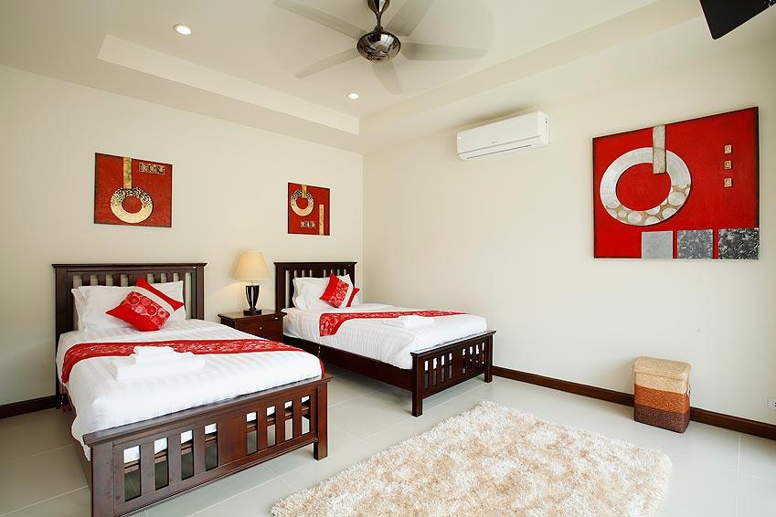 twin air con bedroom topaz villa nai harn phuket holiday rent