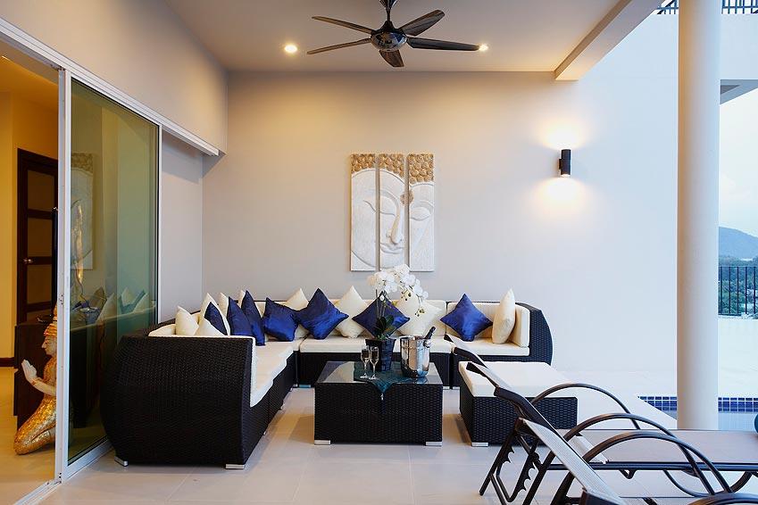 covered balcony turquoise villa rawai phuket holiday rental