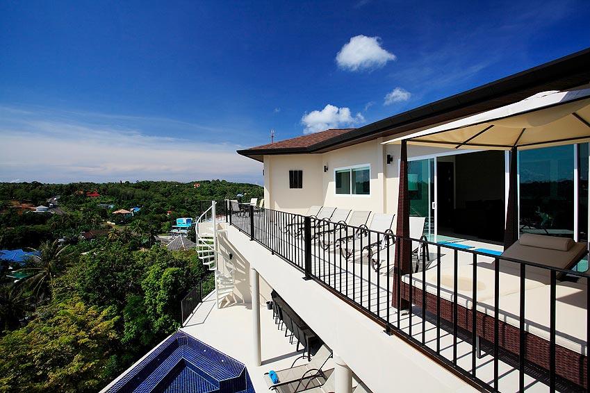 sun terrace overlooking pool turquoise villa rawai phuket holiday rental