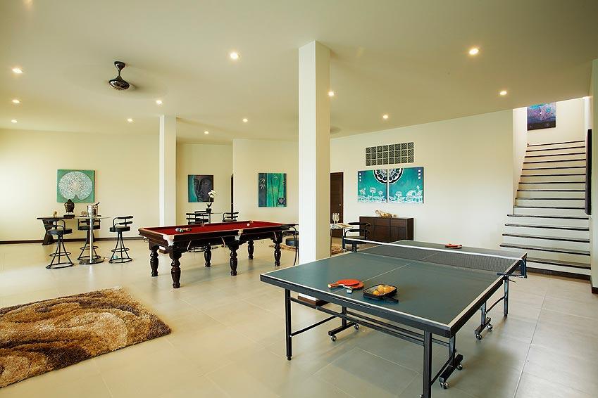games room table tennis pool table turquoise villa rawai phuket holiday rental
