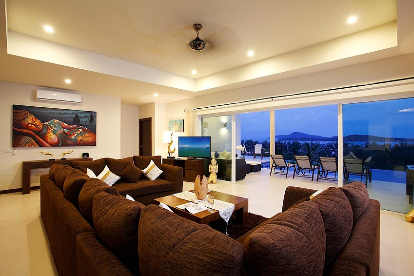 luxury large lounge living room turquoise villa rawai phuket holiday rental