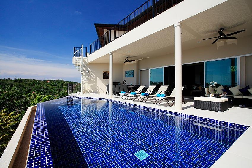 infinity edge swimming pool turquoise villa rawai phuket holiday rental