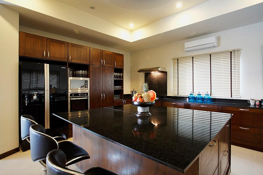 fully fitted western kitchen turquoise villa rawai phuket holiday rental