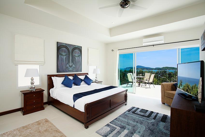 double ensuite bedroom turquoise villa rawai phuket holiday rental