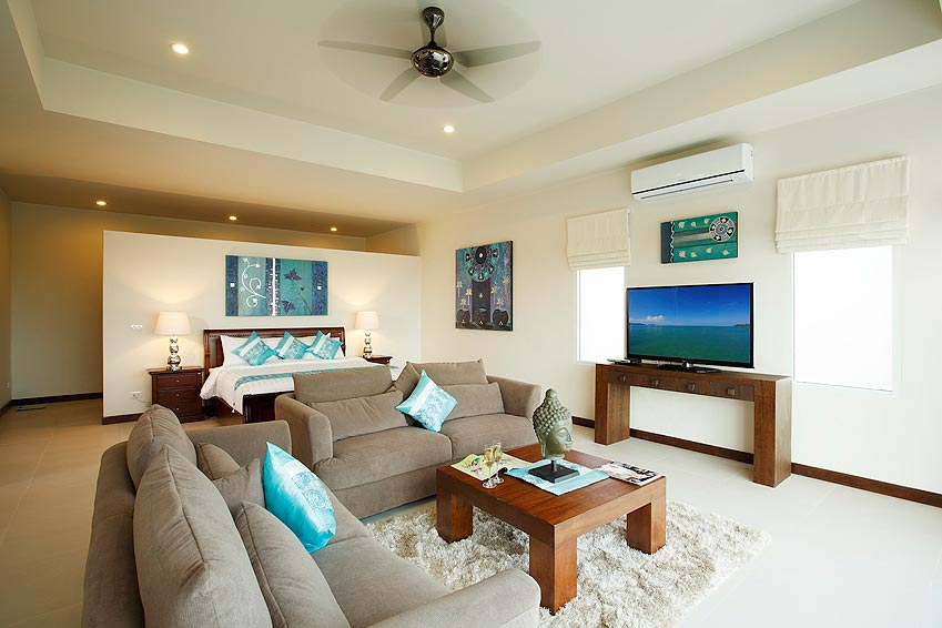 living room with home theatre turquoise villa rawai phuket holiday rental