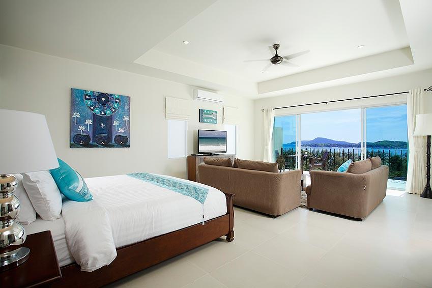 double bedroom with views sea turquoise villa rawai phuket holiday rental