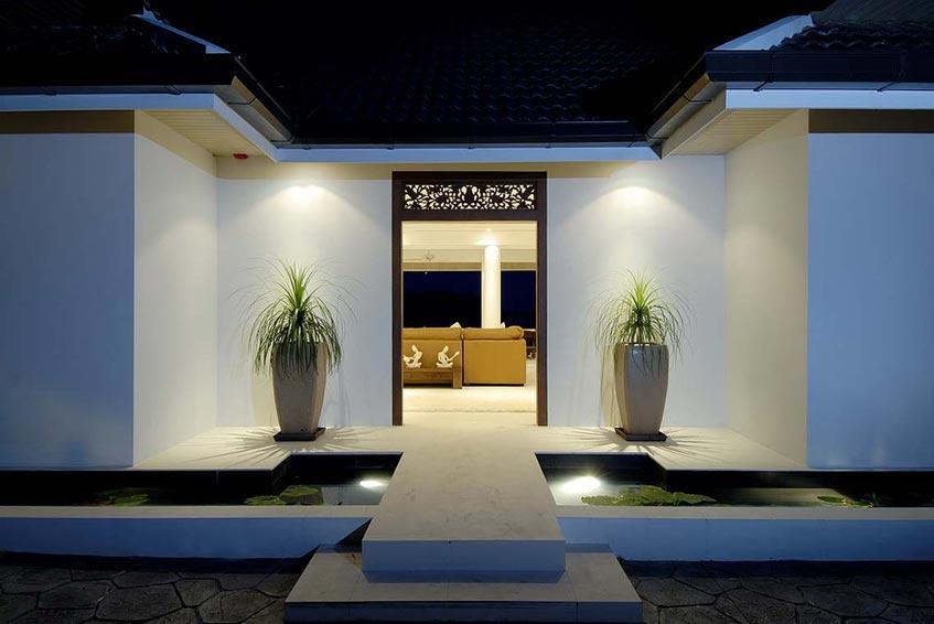 andaman view villa nai harn phuket holiday rental front entrance water feature
