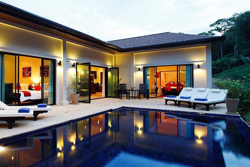 crystal villa nai harn phuket holiday rental infinity pool with sundeck