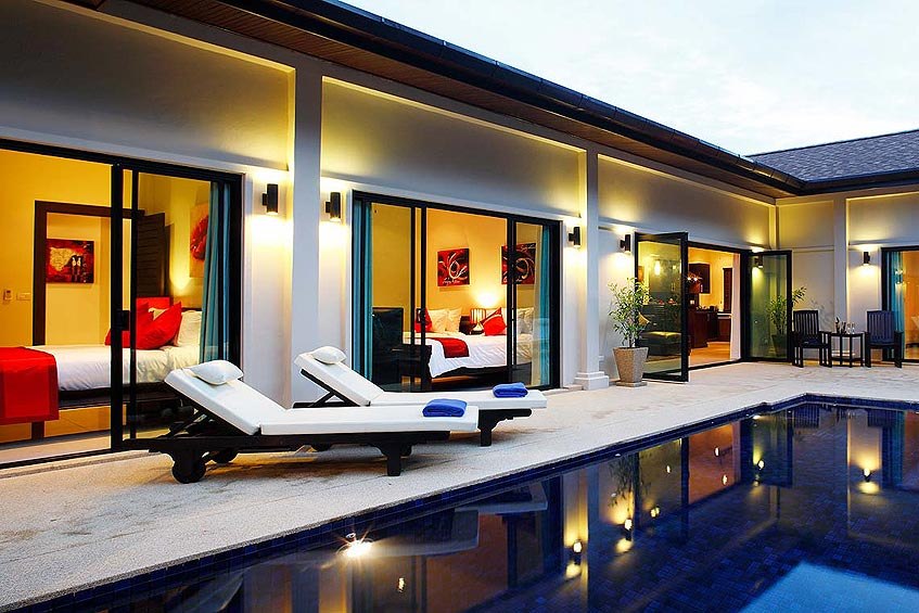 crystal villa nai harn phuket holiday rental poolside sun deck