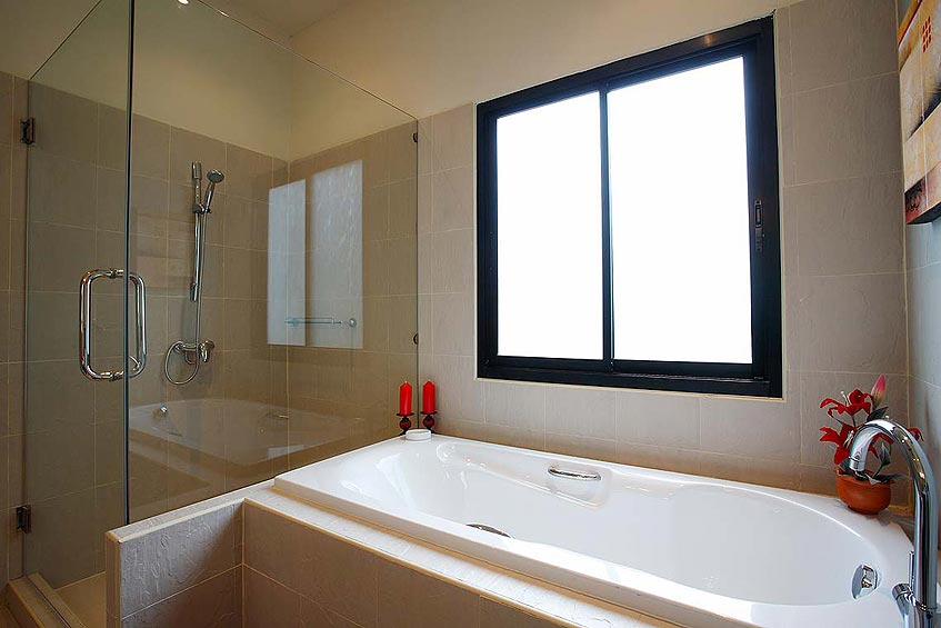 crystal villa nai harn phuket holiday rental ensuite bathroom bath shower wc