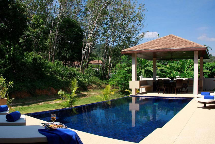 crystal villa nai harn phuket holiday rental infinity pool sala sundeck