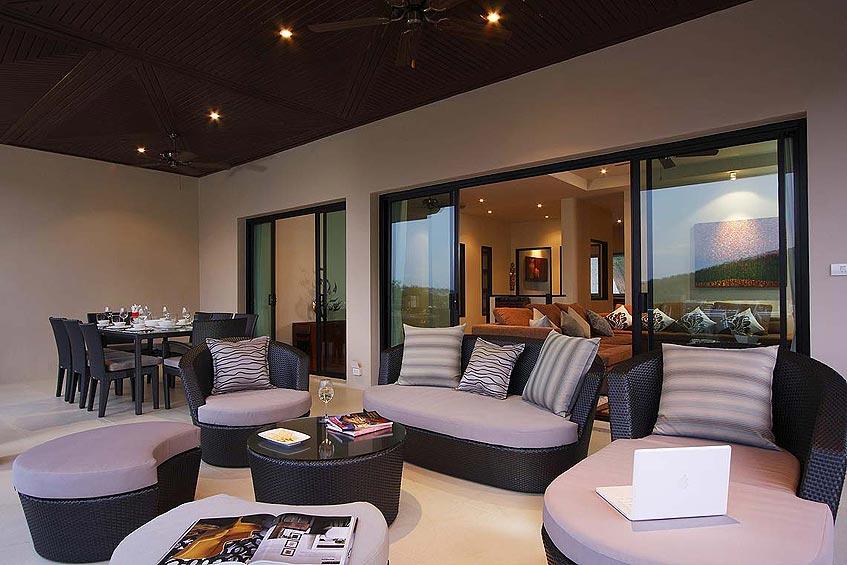 emerald villa nai harn phuket holiday rental living room outside covered seating