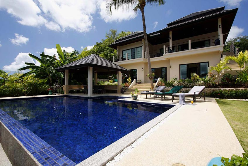 emerald villa nai harn phuket holiday rental infinity pool sundeck sala